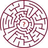 rund maze stock illustrationer