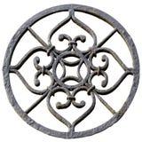Rund metallprydnad Royaltyfria Bilder