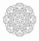 Rund modell av traditionella motiv och forntida orientaliska prydnader Royaltyfria Foton