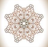 Rund modell av traditionella motiv och forntida orientaliska prydnader Arkivbild