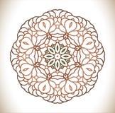 Rund modell av traditionella motiv och forntida orientaliska prydnader Royaltyfria Bilder