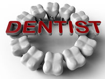 Rund modell för tand- logo stock illustrationer