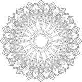 Rund modell i form av mandalaen för henna, Mehndi, tatuering, garnering royaltyfri illustrationer