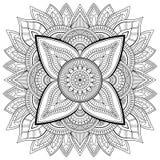 Rund modell i form av mandalaen för henna, Mehndi, tatuering, garnering Dekorativ prydnad i etnisk orientalisk stil vektor illustrationer