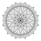 Rund modell i form av mandalaen för henna, Mehndi, tatuering, garnering Dekorativ prydnad i etnisk orientalisk stil stock illustrationer