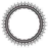 Rund modell i form av mandalaen f?r henna Mehndi vektor illustrationer