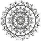 Rund modell i form av mandalaen f?r henna Mehndi royaltyfri illustrationer