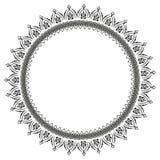 Rund modell i form av mandalaen f?r henna Mehndi/ royaltyfri illustrationer