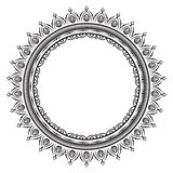 Rund modell i form av mandalaen f?r henna Mehndi stock illustrationer