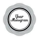 Rund monogramdesignbeståndsdel Fotografering för Bildbyråer