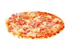 rund ny isolerad pizza Arkivfoton