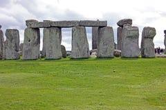 Rund ordning av stenkvarter, Stonehenge, sydvästliga England Arkivbilder