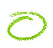 Rund oval isolerad målarfärgslaglängd Royaltyfri Foto
