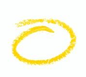 Rund oval isolerad målarfärgslaglängd Arkivbild