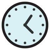 Rund parallell klockaframsida för vägg, klockasymbol Arkivbild