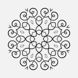 Rund prydnadmodell vektor illustrationer