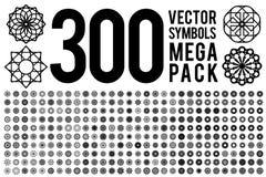 Rund prydnaduppsättning vektor illustrationer