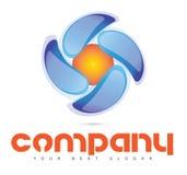 Rund rörelse Logo Concept Arkivfoto