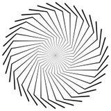 Rund radiell geometrisk beståndsdel som isoleras på vit bakgrund vektor illustrationer
