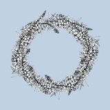 Rund ram med den isolerade pil-örten vektor illustrationer