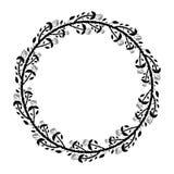 Rund ram med svarta rosor och taggar royaltyfri illustrationer