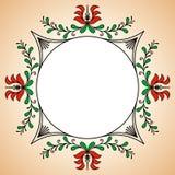 Rund ram med ungerska keramikerbevekelsegrunder Royaltyfri Bild