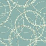 Rund sömlös modell för vit krans Inspirerad modell för vatten cirklar Royaltyfri Foto
