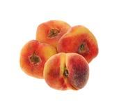 rund sötsak för plana persikor Royaltyfri Foto