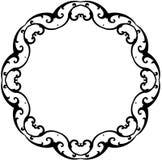 rund scrollwhite för svart ram Royaltyfria Foton