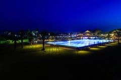 rund skjuten simning för filterpolarizerpöl semesterort Royaltyfri Fotografi