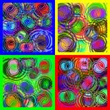 Rund spiral överlappning av olika färger vektor illustrationer