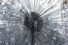 rund springbrunn Arkivbild