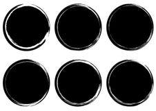 Rund stämpelsamling för Grunge _ gradbeteckning Etiketter och royaltyfri illustrationer