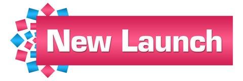 Rund stång för nya lanseringsrosa färgblått vektor illustrationer
