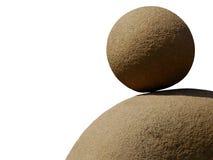 Rund sten på en annan sten Royaltyfri Fotografi