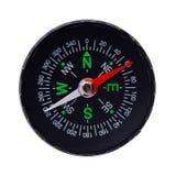 Rund svart kompass Royaltyfria Bilder