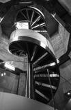 Rund svartvit trappuppgång Zaragoza som göras av metall och glas Royaltyfria Foton