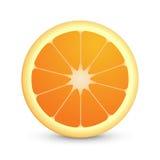Rund symbol av saftig orange frukt Arkivbilder