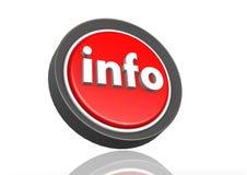 Rund symbol för information i rött Vektor Illustrationer