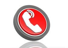 Rund symbol för telefon Arkivfoto
