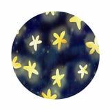 Rund symbol med stjärnor stock illustrationer