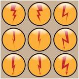 Rund symbolsblixt Fotografering för Bildbyråer