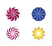 Rund symbolssymbolLogo Element uppsättning Arkivbild
