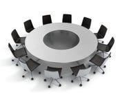Rund tabell, diplomati, konferens som möter stock illustrationer
