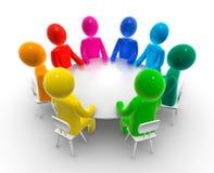 rund tabell för diskussion Royaltyfri Fotografi