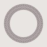 Rund tappningram för logoer Original- väva makramé Royaltyfri Bild