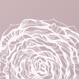 rund tecknad blom- hand för bakgrund vektor illustrationer