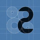 Rund teknikstilsort symbol 2 Royaltyfria Foton