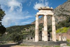 Rund tempel av fristaden av Athena Pronaia arkivbild