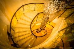 Rund trappuppgång arkivbilder
